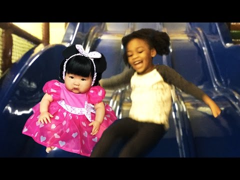 ABC Song   Wheels on The Bus   5 Little Monkeys Kids Songs & Nursery Rhymes at Indoor Playground