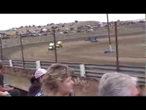 Valentine Speedway, GlenRock, Wyoming 2013 heat win