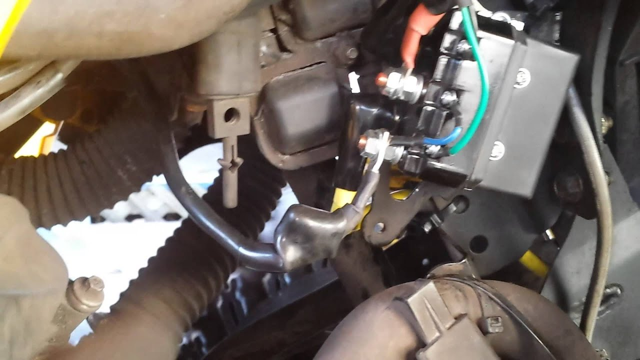 Can Am Renegade Winch Wiring Youtube