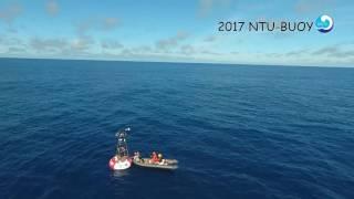 2017年臺灣大學海洋研究所浮標與鬼蝠魟(Manta birostris)的相遇