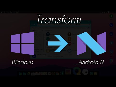 Android N (7.0) Skinpack For Windows 10/8.1/7