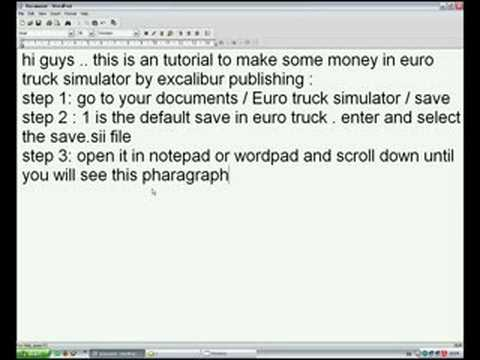 euro truck 2 money cheat