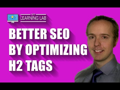 WordPress H2 Tag SEO For Better Rankings - WP Learning Lab - 동영상