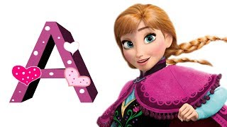 Phonics song with Disney Characters, Learn ABC Song, Alphabet for Kids