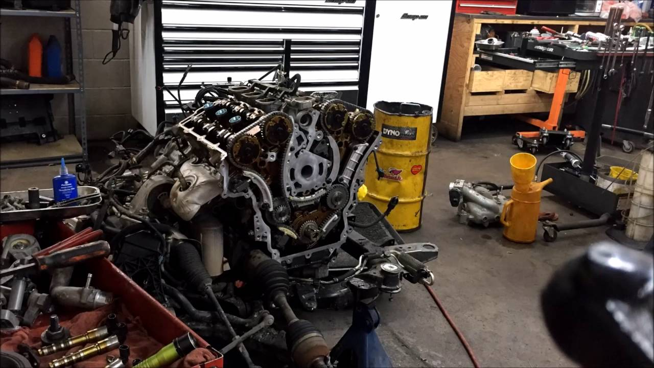 How to change a timing chain Suzuki 3.6 L Timelapse video ...