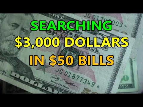 $3,000 BANKNOTE HUNT Searching SIXTY $50 BILLS Of U.S. CURRENCY