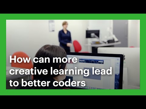 How can more creative learning lead to better coders