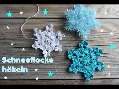 Schneeflocke Häkeln Sehr Einfach Weihnachtsdeko Weihnachten