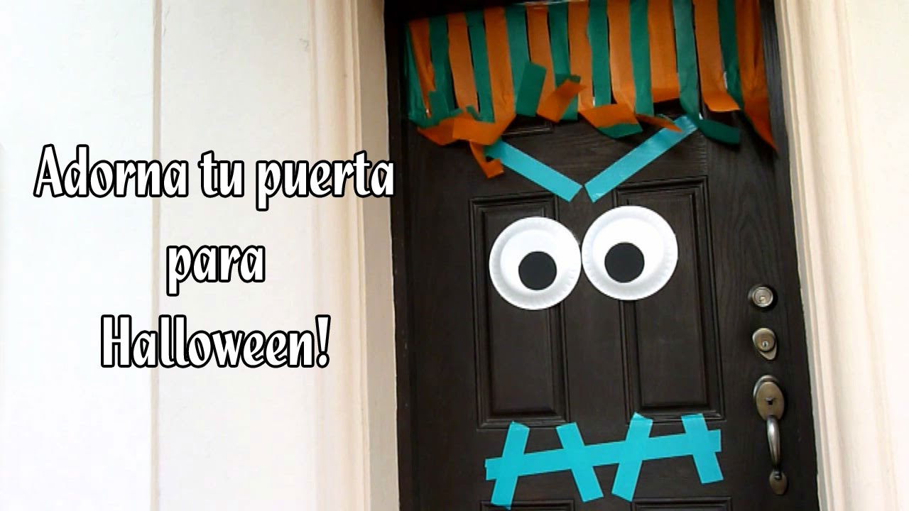 Como adornar tu puerta para halloween youtube for Decoracion de unas halloween