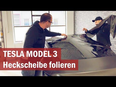 Tesla Model 3: Heckscheibe folieren & tönen - So wirds gemacht!