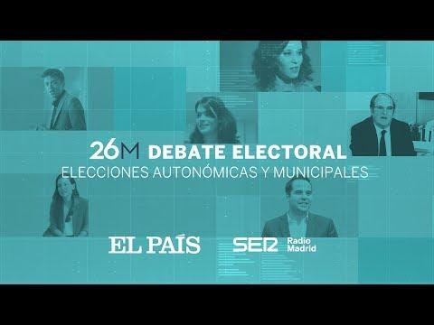 DIRECTO  DEBATE electoral de candidatos a la Comunidad de MADRID