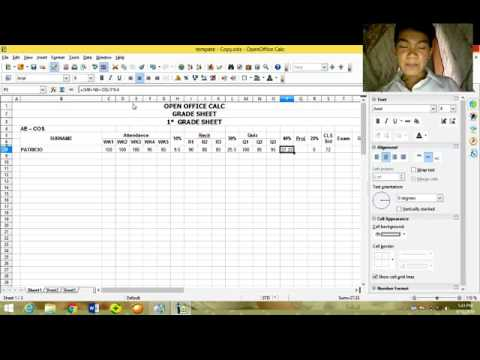 How to create grading sheets