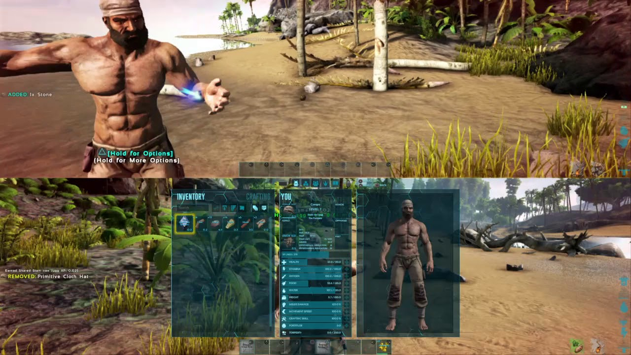 ark survival evolved ps4 split screen co op multiplayer. Black Bedroom Furniture Sets. Home Design Ideas