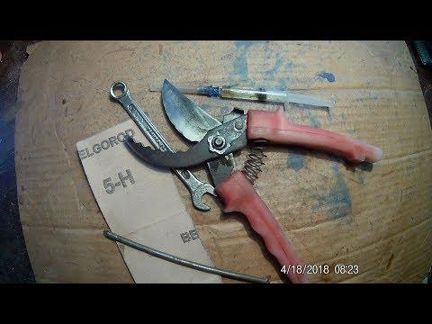 правильно затачиваем садовые ножницы