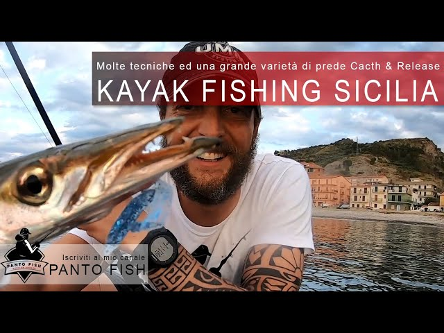 Kayak Fishing Sicilia - Differenti tipologie di pesci e tecniche