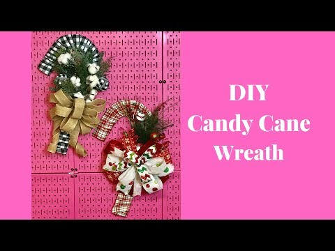 Learn How To Make A Candy Cane Wreath - DIY Candy Cane Wreaths - Dollar Tree Crafts