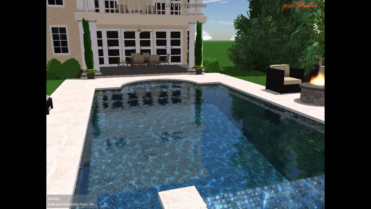 Custom Pool Design   Roman   YouTube