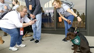 These VIPs -- Very Important Pooches -- trained at Newark airport, and it was adorable