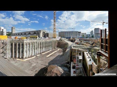 Stuttgart 21 Baustelle im Juli 2016