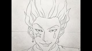 How to draw Hisoka (HunterxHunter)