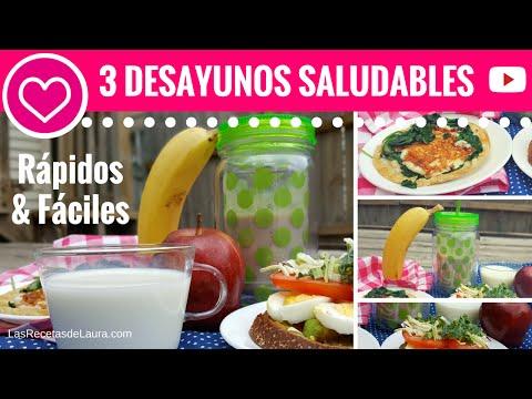 3 DESAYUNOS SALUDABLES en menos de 5 minutos - Las Recetas de Laura ❤ Recetas de Comida Saludable