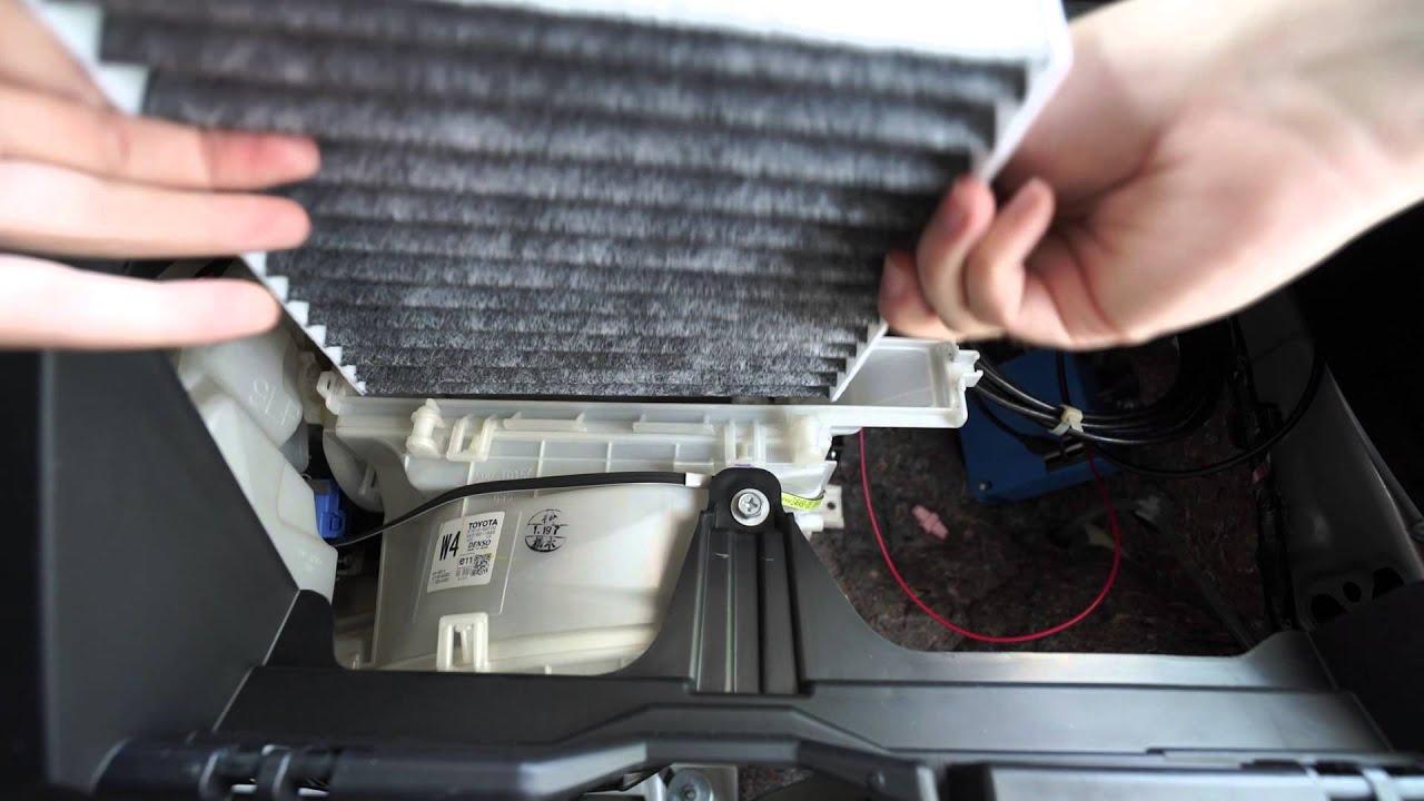 2012 prius c cabin air filter replacement