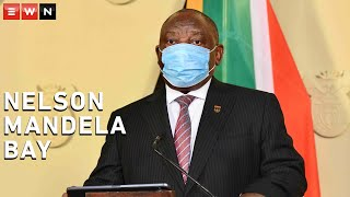 President Cyril Ramaphosa declared that Nelson Mandela Bay is a COVID-19 hotspot and that additional restrictions to contain the spread will be implemented from Thursday midnight.  #COVID19 #CoronavirusSA #Ramaphosa