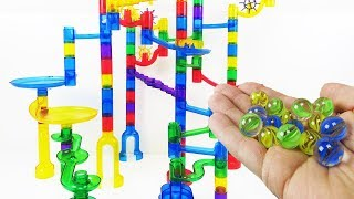 Marble Genius Marble Run Super Set!  How to put together Marble Run Super Set.