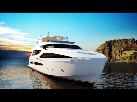 Impressive And Comfortable Horizon FD102 Fast Displacement Luxury Superyacht (by Horizon Yachts)