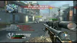 Call of Duty Black Ops Wii - L96A1 Sniper Gameplay READ DESCRIPTION