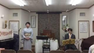 尺八・詩吟コンサート 2016 リハーサル中.
