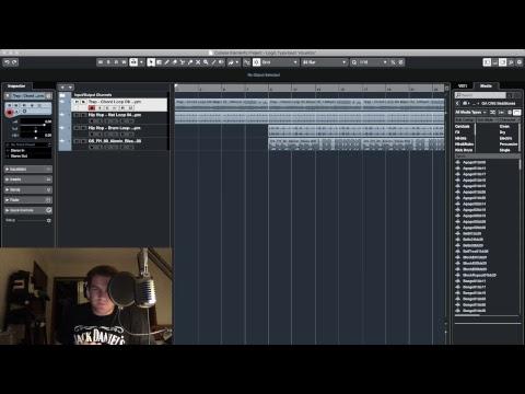 Making A Hip Hop Beat On Cubase 10 Elements (Live)