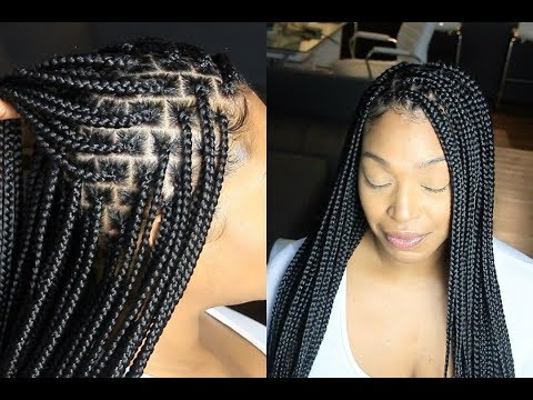 Knotless Box Braids // EVERYTHING YOU NEED TO KNOW // SLOW MOTION