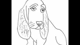 Basset Hound. Dog. How to draw a easy? (Собака. Бассет-хаунд. Как нарисовать просто?)