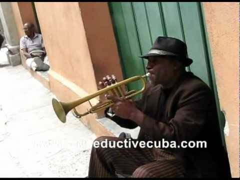 Besame Mucho played by a trumpet player in Havana, Cuba