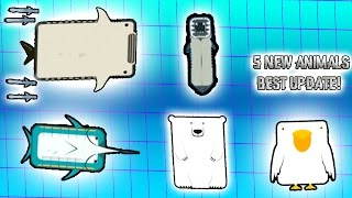 5 NEW AMAZING ANIMALS UPDATE! NEW POLAR BEAR, LAMPREY, PELICAN, MARLIN, WHALE SHARK! (Deeeep.io)