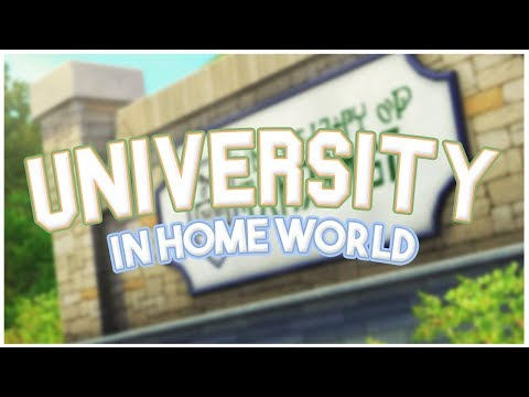 UNIVERSITY IN HOME WORLD!? 🙌 // The Sims 3: Community College Mod