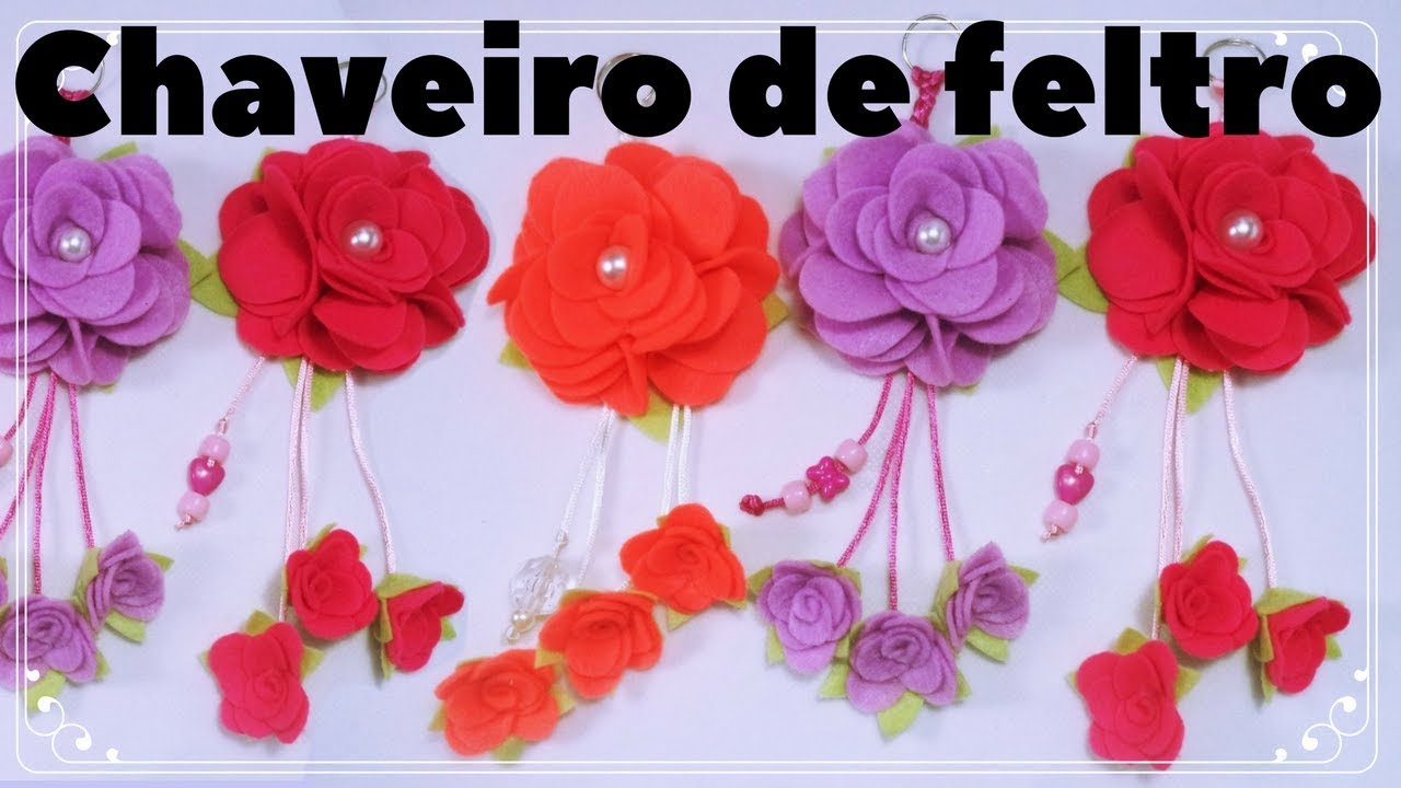 Flor De Feltro Passo A Passo Dia Das Mães Youtube