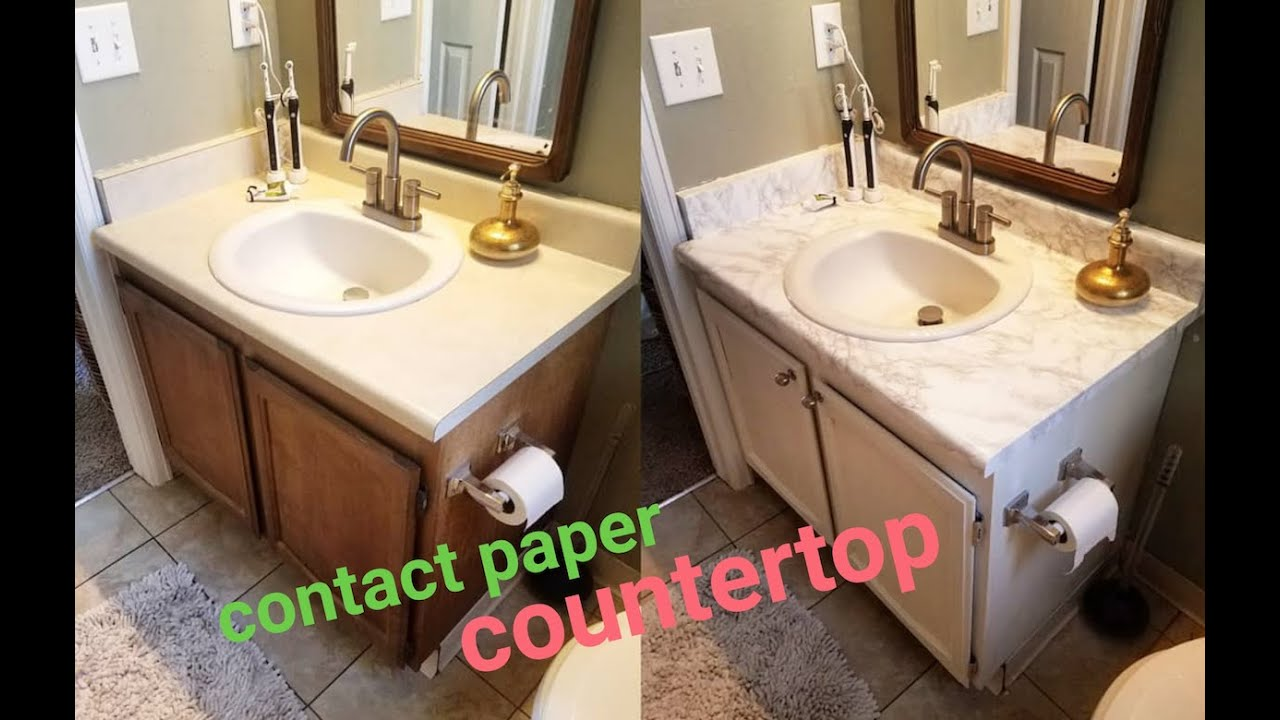 Diy Marble Contact Paper Over Formica