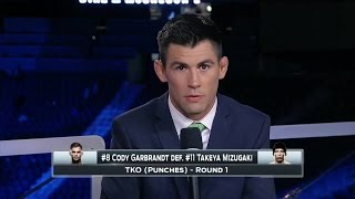 Dominick Cruz: I thought Garbrandt was CM Punk, I didn't know who he was - UFC 202