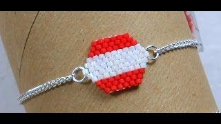 Single Peyote Charm Bracelet