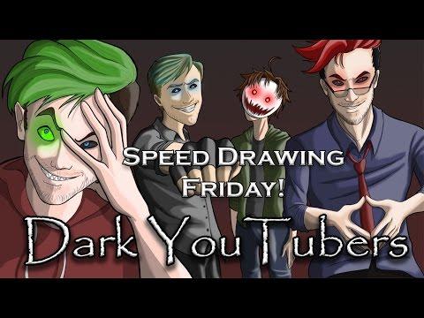 Dark Youtubers - Speed Drawing
