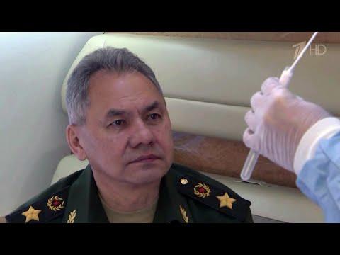 Министр обороны России Сергей Шойгу сдал тест на коронавирус после визита в Сирию.
