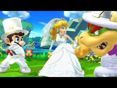 SUPER MARIO ODYSSEY WEDDING SKINS IN SMASH 4! (Super Smash Bros. Wii U Mod Showcase)