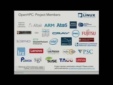 OpenHPC: Community Building Blocks for HPC Systems - Karl Shulz, Intel