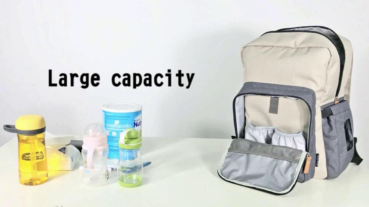 c0fe2876b48c8 Hap Tim Diaper Bag Backpack Travel Diaper Backpack - YouTube