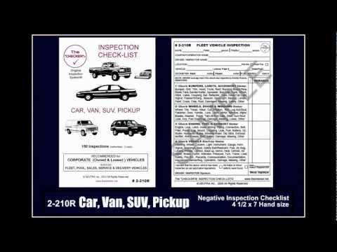 "Car Inspection Checklist >> Car, Van, SUV, Pickup Truck, Trailer Inspection Checklist - The ""CHECKER""® How-To Guide Vol 4 ..."