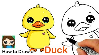 How to Draw a Baby Duck Easy