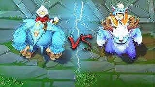 NUNU ALL SKINS & Splash Arts Old VS New Comparison Rework - League of Legends