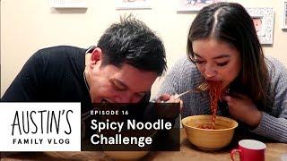 Spicy Noodle Challenge | Austin Vlog | HiHo Kids